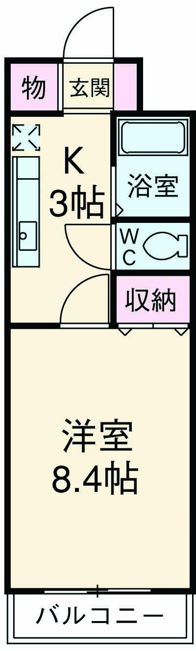 Page 1・00301号室の間取り