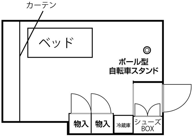 【シェアハウス】ドミール花小金井Peda 208号室の間取り