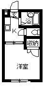 秋桜 103号室の間取り
