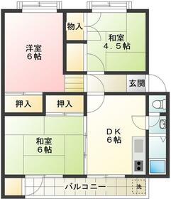 久米川駅東住宅20号棟・106号室の間取り