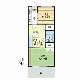 武蔵野サンハイツ滝山パート1 103号室の間取り