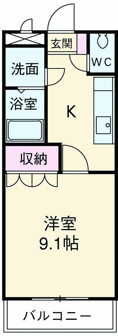 ペティハウス弐番館 00101号室の間取り