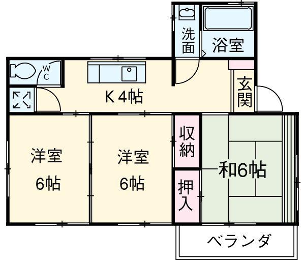 藤田ビル・3F号室の間取り