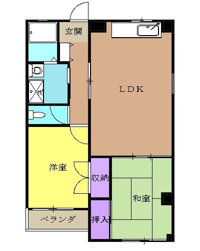 レジデンスヨコヤマ 303号室の間取り