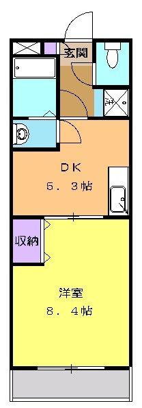 グリーンツリー 301号室の間取り