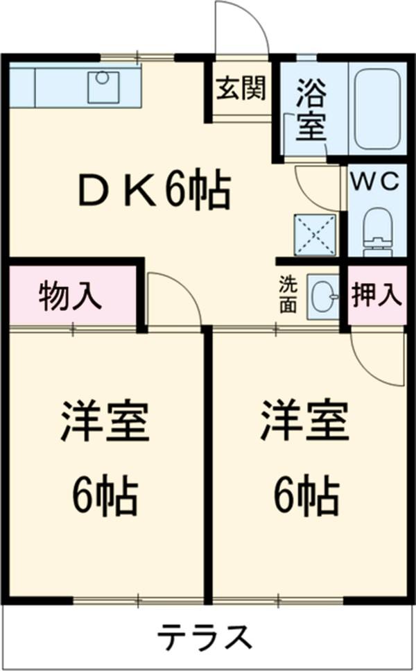 シティハイム松田 101号室の間取り