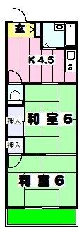 コーポサカイ・202号室の間取り