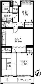ライネスハイムII・303号室の間取り
