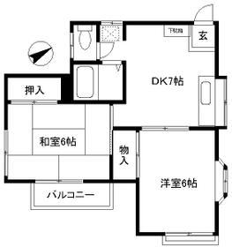 MY HOUSE 1988・2F号室の間取り