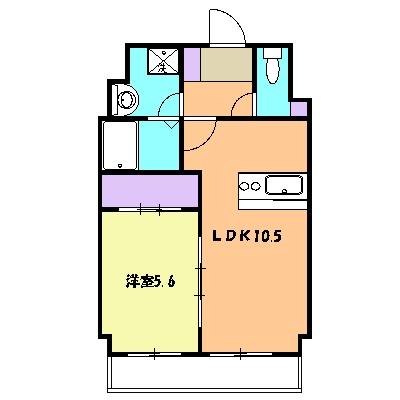 エイトバード東静岡・103号室の間取り