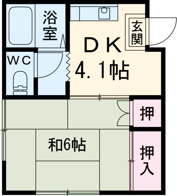 コーポ島田・202号室の間取り