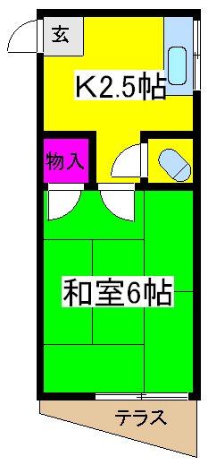 大野荘・203号室の間取り