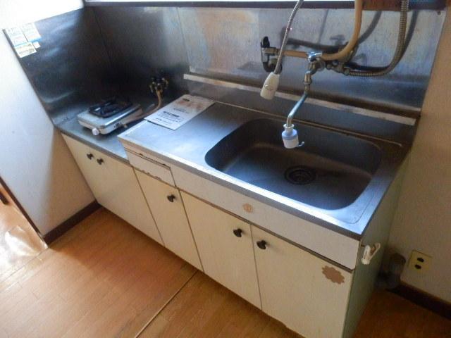 大野荘 203号室の洗面所