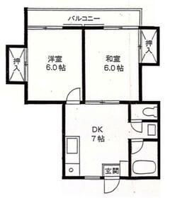 浜田ハイム・203号室の間取り