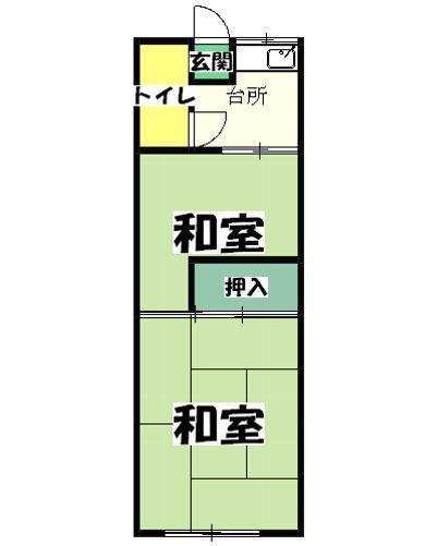 上野浦荘 201号室の間取り