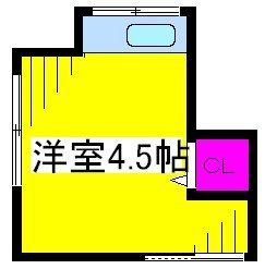 岡本荘・8号室の間取り