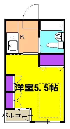 桜館5 504号室の間取り