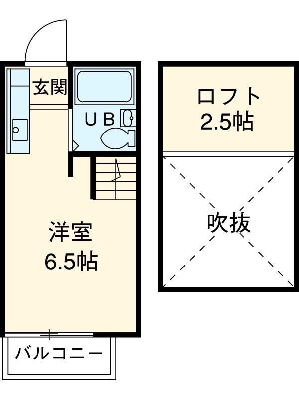 日宏ハイツA 101号室の間取り