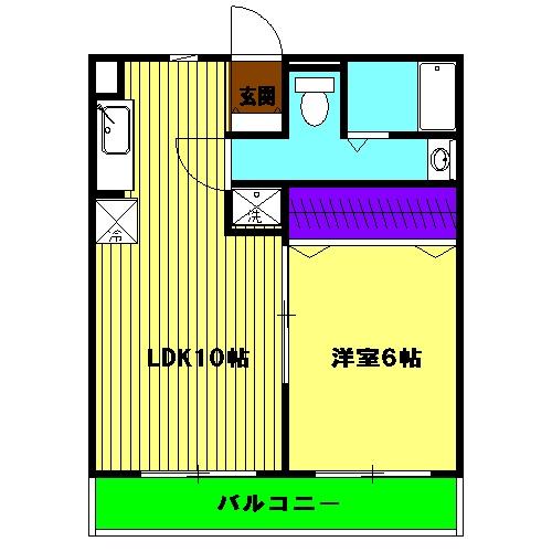 Grand Maison 葵 201号室の間取り