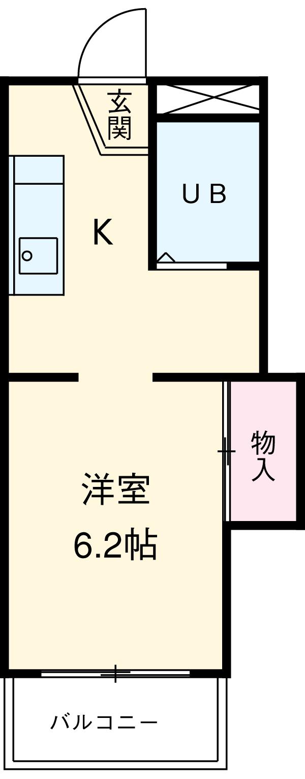 コーポ富士見 307号室の間取り