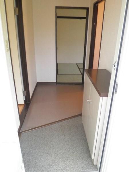 ヴィラ堀池B棟 201号室の玄関