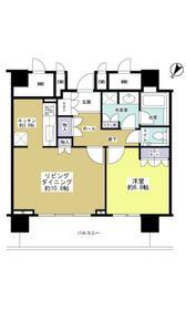 マークス・ザ・タワー東静岡 1401号室の間取り