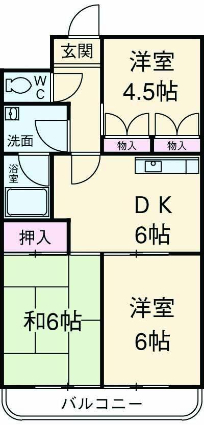 第3サンライズマンション・302号室の間取り