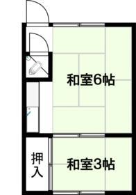 昭和コーポ・202号室の間取り