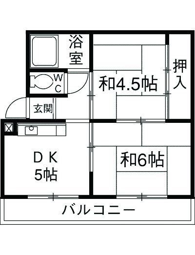 レジデンス永田 101号室の間取り