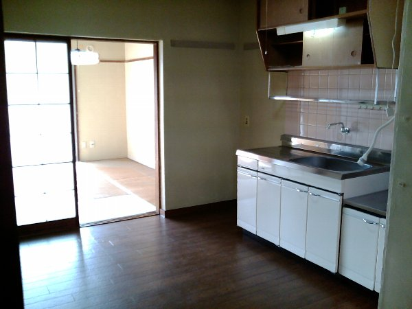 山梨マンション 3-C号室のキッチン