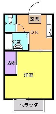ベルジュ井庄・208号室の間取り
