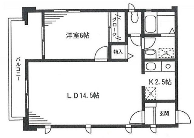 カーサベルデ加賀原・202号室の間取り