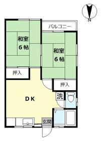 コーポタカハシ第二・201号室の間取り