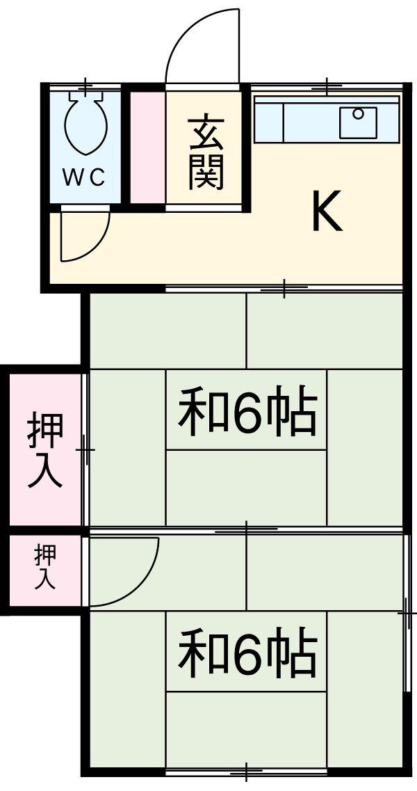晃山荘・2号室の間取り