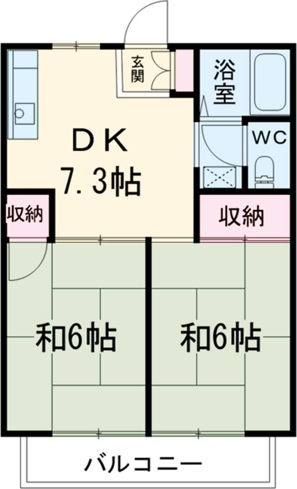 カーサヤマト・202号室の間取り