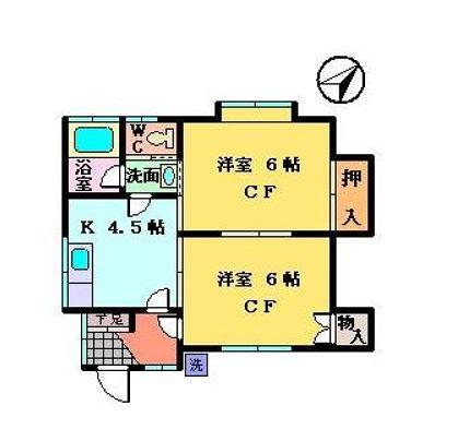 大金荘・102号室の間取り