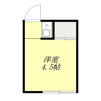 須田荘 12号室の間取り