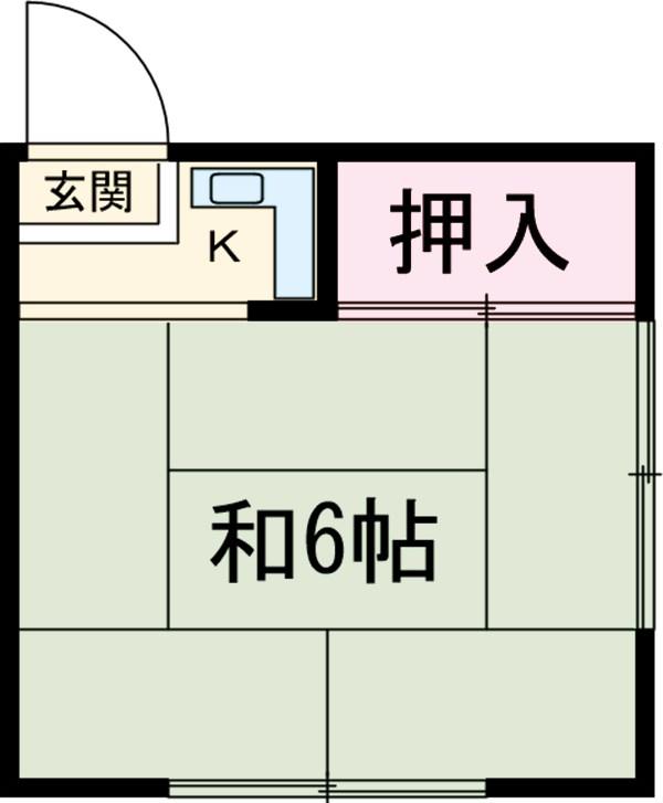 渡辺荘 201号室の間取り