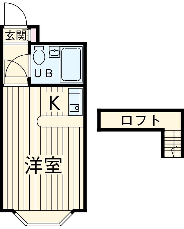 ベルピア京成大久保・102号室の間取り