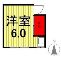 関アパート・3-203号室の間取り