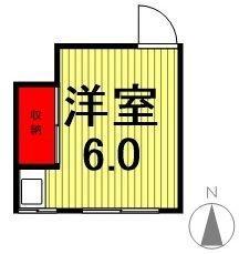 関アパート・3-202号室の間取り
