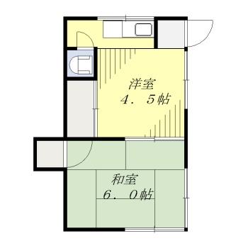 大島アパート 201号室の間取り