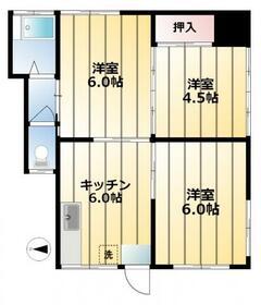 大塚アパート・101号室の間取り