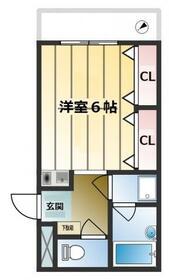 ハイツHANAWA・102号室の間取り