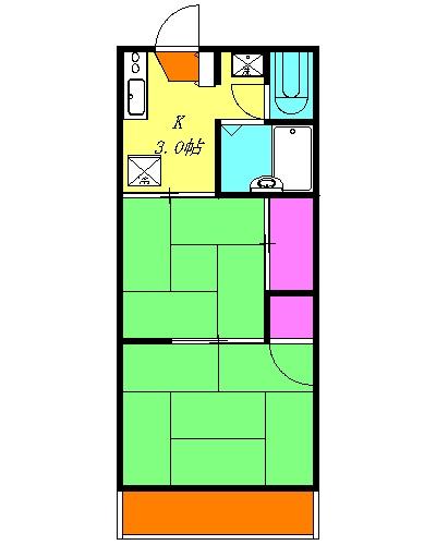 第二ヒルズハウス・202号室の間取り