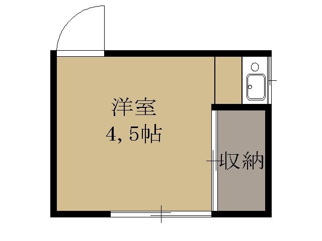 関アパート・2-201号室の間取り