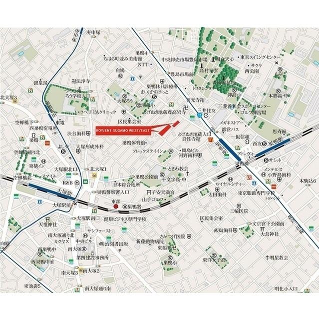 ROYGENT SUGAMO EAST 104号室の地図