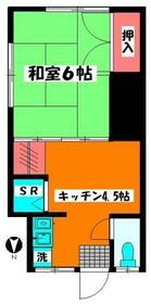 Kハウス・203号室の間取り