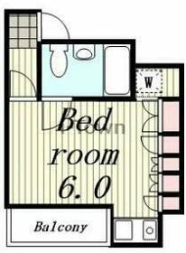 山口ビル・8A号室の間取り
