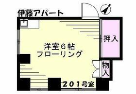 伊藤アパート(駒込)・201号室の間取り